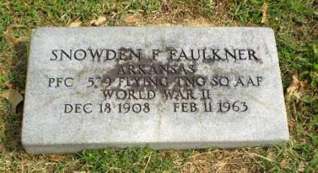 FAULKNER  (VETERAN WWII), SNOWDEN F - Greene County, Arkansas | SNOWDEN F FAULKNER  (VETERAN WWII) - Arkansas Gravestone Photos