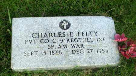 FELTY  (VETERAN SAW), CHARLES E - Greene County, Arkansas | CHARLES E FELTY  (VETERAN SAW) - Arkansas Gravestone Photos