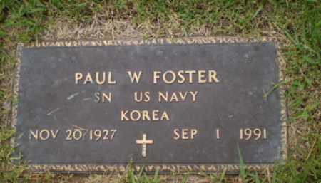 FOSTER  (VETERAN KOR), PAUL W - Greene County, Arkansas | PAUL W FOSTER  (VETERAN KOR) - Arkansas Gravestone Photos