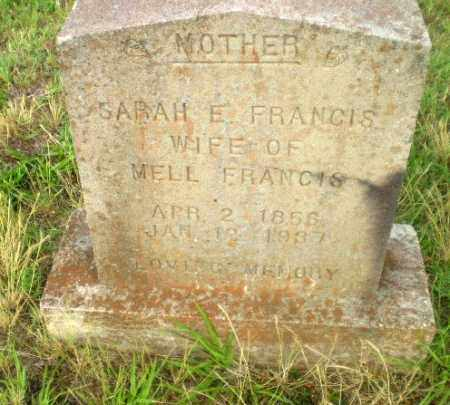 FRANCIS, SARAH E - Greene County, Arkansas | SARAH E FRANCIS - Arkansas Gravestone Photos
