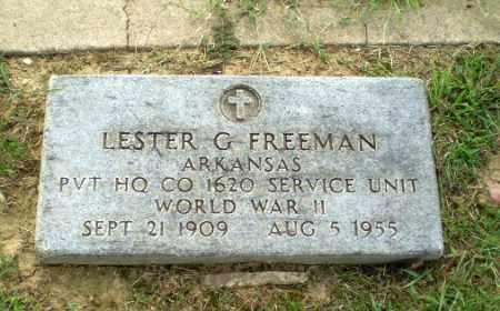 FREEMAN  (VETERAN WWII), LESTER G - Greene County, Arkansas | LESTER G FREEMAN  (VETERAN WWII) - Arkansas Gravestone Photos
