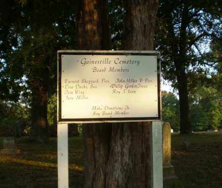 *GAINESVILLE CEMETERY, CONTACT INFORMATION - Greene County, Arkansas | CONTACT INFORMATION *GAINESVILLE CEMETERY - Arkansas Gravestone Photos