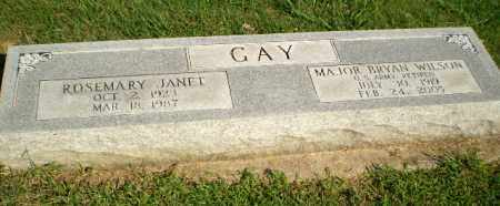 GAY, ROSEMARY JANET - Greene County, Arkansas | ROSEMARY JANET GAY - Arkansas Gravestone Photos