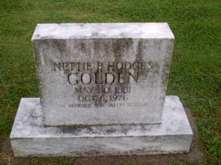 HODGES GOLDEN, NETTIE B - Greene County, Arkansas | NETTIE B HODGES GOLDEN - Arkansas Gravestone Photos