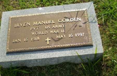 GORDEN  (VETERAN WWII), IRVEN MANUEL - Greene County, Arkansas | IRVEN MANUEL GORDEN  (VETERAN WWII) - Arkansas Gravestone Photos