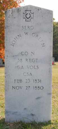 GREEN (VETERAN CSA), JOHN W - Greene County, Arkansas | JOHN W GREEN (VETERAN CSA) - Arkansas Gravestone Photos