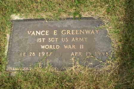 GREENWAY  (VETERAN WWII), VANCE E - Greene County, Arkansas | VANCE E GREENWAY  (VETERAN WWII) - Arkansas Gravestone Photos