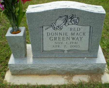 "GREENWAY, DONNIE MACK ""RED"" - Greene County, Arkansas 