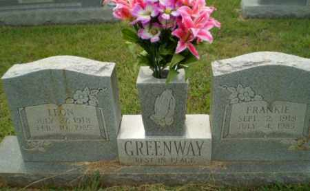 GREENWAY, LEON - Greene County, Arkansas | LEON GREENWAY - Arkansas Gravestone Photos