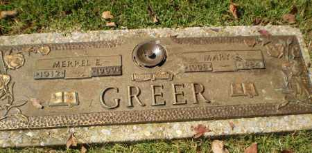 GREER, MERREL E - Greene County, Arkansas | MERREL E GREER - Arkansas Gravestone Photos