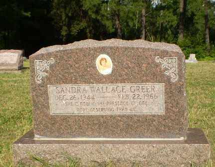 WALLACE GREER, SANDRA - Greene County, Arkansas | SANDRA WALLACE GREER - Arkansas Gravestone Photos