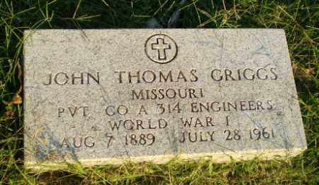 GRIGGS  (VETERAN WWI), JOHN THOMAS - Greene County, Arkansas | JOHN THOMAS GRIGGS  (VETERAN WWI) - Arkansas Gravestone Photos