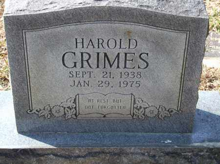GRIMES, HAROLD - Greene County, Arkansas | HAROLD GRIMES - Arkansas Gravestone Photos