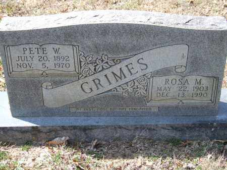 GRIMES, PETE W. - Greene County, Arkansas | PETE W. GRIMES - Arkansas Gravestone Photos