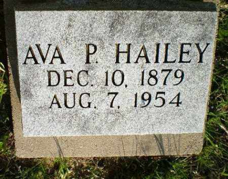 HAILEY, AVA P - Greene County, Arkansas | AVA P HAILEY - Arkansas Gravestone Photos