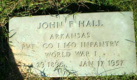 HALL   (VETERAN WWI), JOHN F - Greene County, Arkansas | JOHN F HALL   (VETERAN WWI) - Arkansas Gravestone Photos