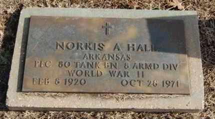 HALL  (VETERAN WWII), NORRIS A - Greene County, Arkansas | NORRIS A HALL  (VETERAN WWII) - Arkansas Gravestone Photos