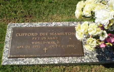 HAMILTON (VETERAN WWII), CLIFFORD DEE - Greene County, Arkansas | CLIFFORD DEE HAMILTON (VETERAN WWII) - Arkansas Gravestone Photos