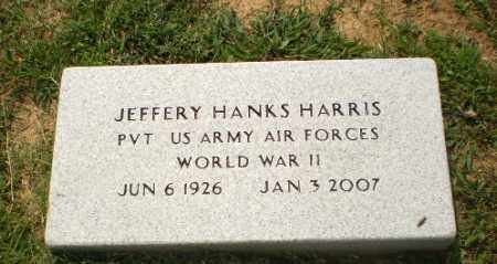 HARRIS  (VETERAN WWII), JEFFERY HANKS - Greene County, Arkansas | JEFFERY HANKS HARRIS  (VETERAN WWII) - Arkansas Gravestone Photos
