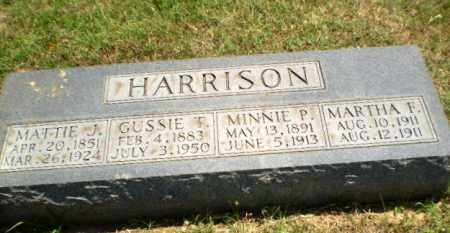 HARRISON, GUSSIE T - Greene County, Arkansas | GUSSIE T HARRISON - Arkansas Gravestone Photos