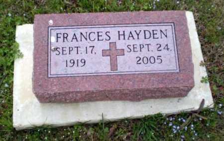 HAYDEN, FRANCES - Greene County, Arkansas | FRANCES HAYDEN - Arkansas Gravestone Photos