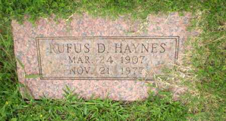 HAYNES, RUFUS D - Greene County, Arkansas | RUFUS D HAYNES - Arkansas Gravestone Photos