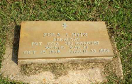 HEIN  (VETERAN WWII), ZOLA I - Greene County, Arkansas | ZOLA I HEIN  (VETERAN WWII) - Arkansas Gravestone Photos