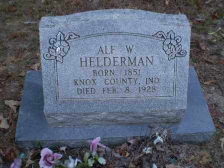 HELDERMAN, ALF W - Greene County, Arkansas | ALF W HELDERMAN - Arkansas Gravestone Photos