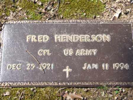 HENDERSON (VETERAN), FRED - Greene County, Arkansas | FRED HENDERSON (VETERAN) - Arkansas Gravestone Photos