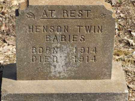 HENSON, TWIN BABIES - Greene County, Arkansas | TWIN BABIES HENSON - Arkansas Gravestone Photos
