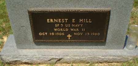 HILL  (VETERAN  WWII), ERNEST E - Greene County, Arkansas | ERNEST E HILL  (VETERAN  WWII) - Arkansas Gravestone Photos