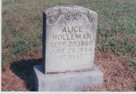 HOLLEMAN, ALICE - Greene County, Arkansas | ALICE HOLLEMAN - Arkansas Gravestone Photos