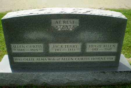 HORNE, ALLEN CURTIS - Greene County, Arkansas | ALLEN CURTIS HORNE - Arkansas Gravestone Photos