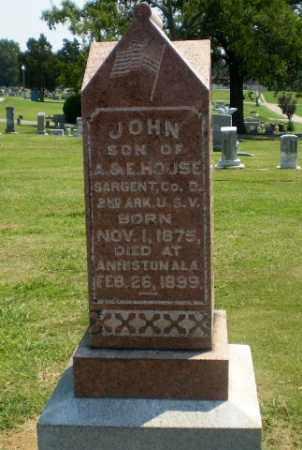 HOUSE  (VETERAN SAW), JOHN - Greene County, Arkansas | JOHN HOUSE  (VETERAN SAW) - Arkansas Gravestone Photos