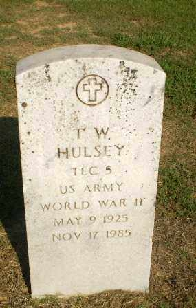 HULSEY  (VETERAN WWII), T.W. - Greene County, Arkansas | T.W. HULSEY  (VETERAN WWII) - Arkansas Gravestone Photos