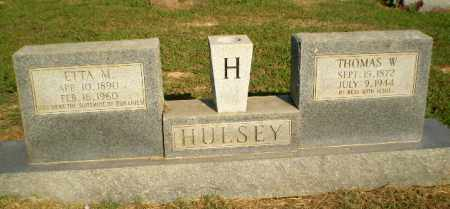 HULSEY, ETTA M - Greene County, Arkansas | ETTA M HULSEY - Arkansas Gravestone Photos