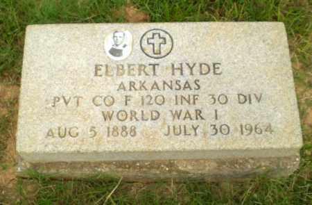 HYDE  (VETERAN WWI), ELBERT - Greene County, Arkansas | ELBERT HYDE  (VETERAN WWI) - Arkansas Gravestone Photos