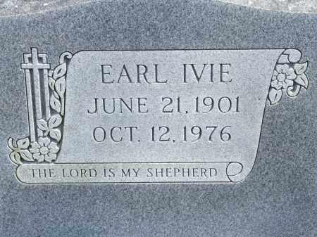 IVIE, EARL - Greene County, Arkansas | EARL IVIE - Arkansas Gravestone Photos