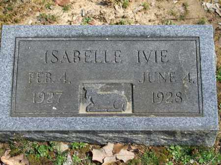 IVIE, ISABELLE - Greene County, Arkansas | ISABELLE IVIE - Arkansas Gravestone Photos