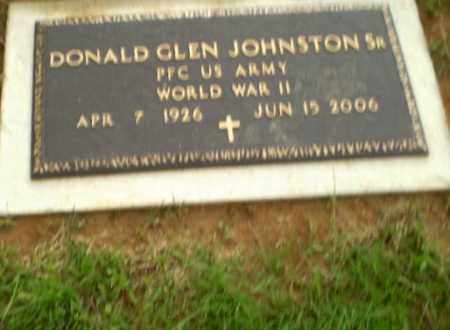 JOHNSTON, SR  (VETERAN WWII), DONALD GLEN - Greene County, Arkansas | DONALD GLEN JOHNSTON, SR  (VETERAN WWII) - Arkansas Gravestone Photos