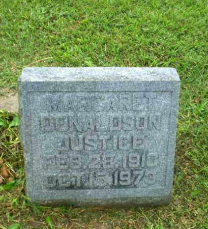 DONALDSON JUSTICE, MARGARET - Greene County, Arkansas | MARGARET DONALDSON JUSTICE - Arkansas Gravestone Photos