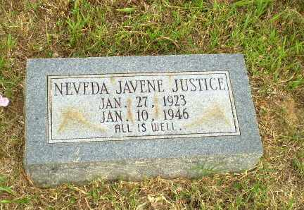 JUSTICE, NEVEDA JAVENE - Greene County, Arkansas | NEVEDA JAVENE JUSTICE - Arkansas Gravestone Photos