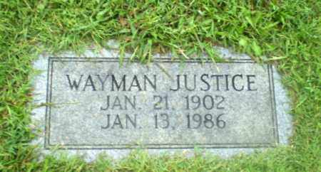 JUSTICE, WAYMAN - Greene County, Arkansas | WAYMAN JUSTICE - Arkansas Gravestone Photos