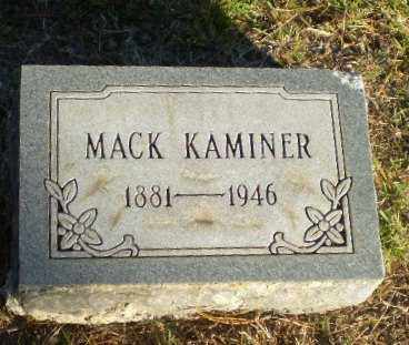 KAMINER, MACK - Greene County, Arkansas | MACK KAMINER - Arkansas Gravestone Photos