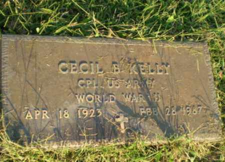 KELLY  (VETERAN WWII), CECIL B - Greene County, Arkansas | CECIL B KELLY  (VETERAN WWII) - Arkansas Gravestone Photos