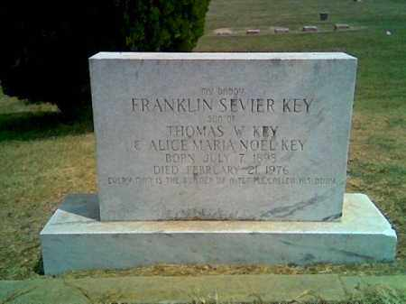 KEY, FRANKLIN SEVIER - Greene County, Arkansas | FRANKLIN SEVIER KEY - Arkansas Gravestone Photos
