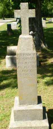 KIRCHHOFF, FRANK F. - Greene County, Arkansas | FRANK F. KIRCHHOFF - Arkansas Gravestone Photos