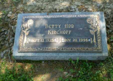 KIRCHOFF, BETTY ANN - Greene County, Arkansas | BETTY ANN KIRCHOFF - Arkansas Gravestone Photos