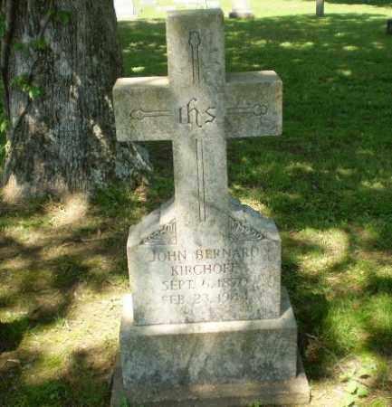 KIRCHOFF, JOHN BERNARD - Greene County, Arkansas | JOHN BERNARD KIRCHOFF - Arkansas Gravestone Photos