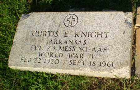KNIGHT  (VETERAN WWII), CURTIS E - Greene County, Arkansas | CURTIS E KNIGHT  (VETERAN WWII) - Arkansas Gravestone Photos